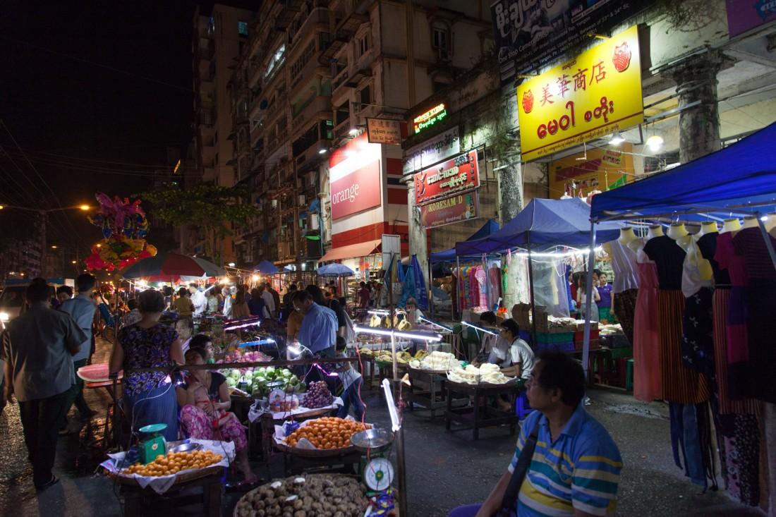 Nachtmarkt in Yangon