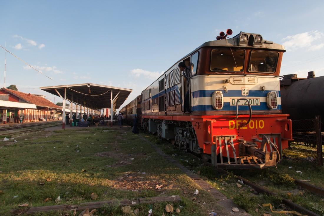 Unser Zug vor der Abfahrt nach Kalaw