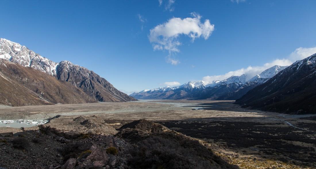 Ausblick vom Tasman Glascier
