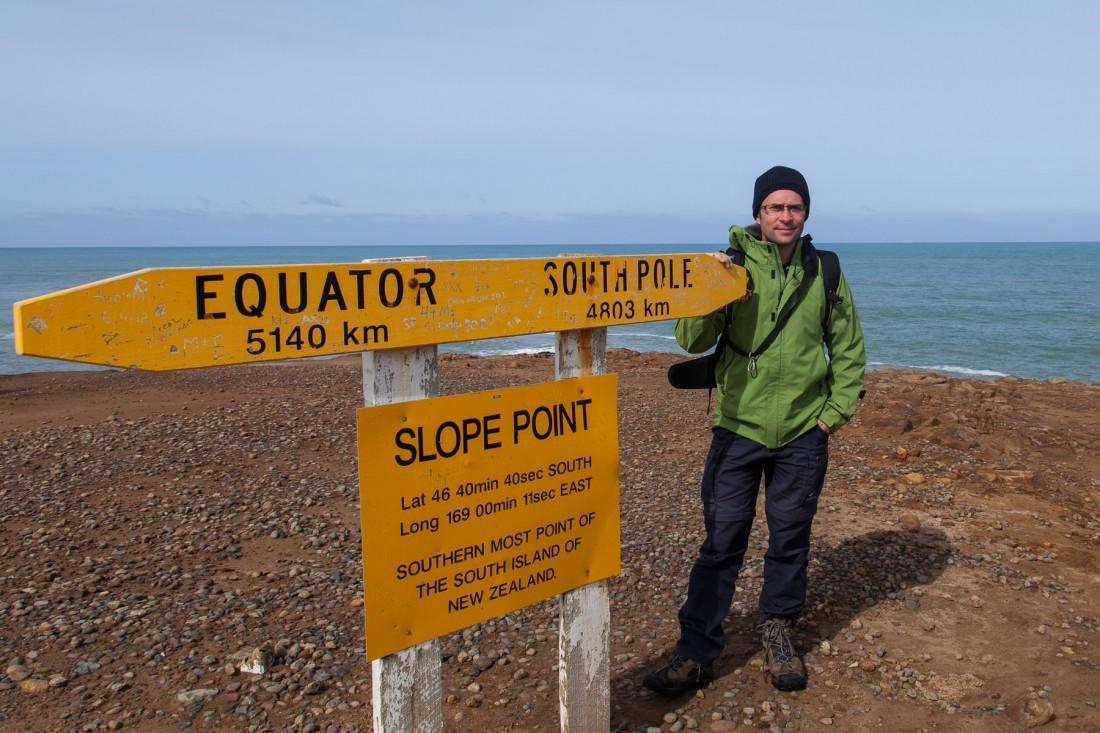 Von hier aus sind es nur noch 4803 Kilometer bis zum Südpol