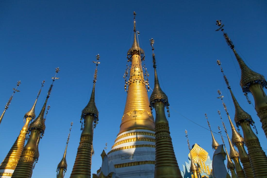 Natürlich gibt es auch am Inle See Budhistische Heiligtümer zu