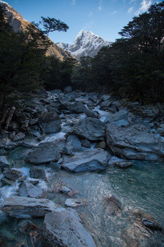 Fluss und Gipfel