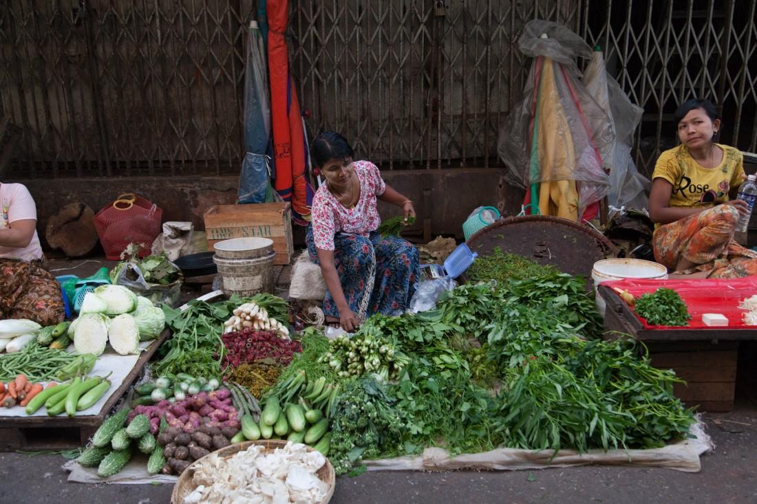 Gemüsemarkt in Yangon