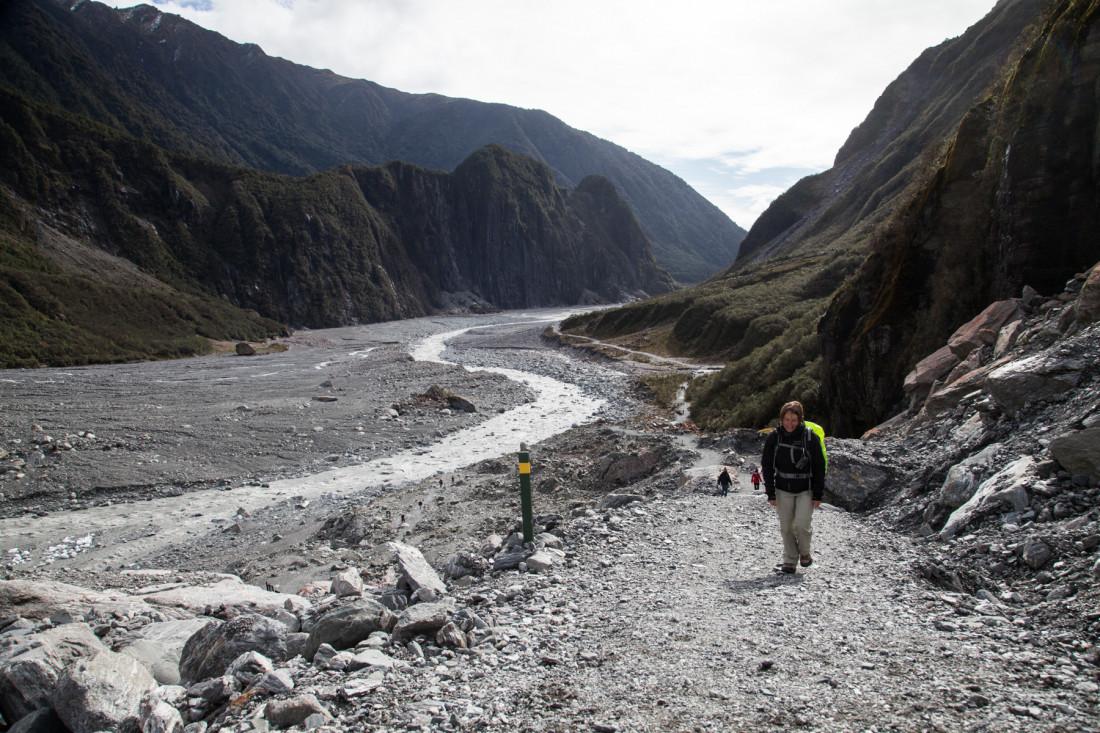 Steiler Aufstieg zum Fox Gletscher