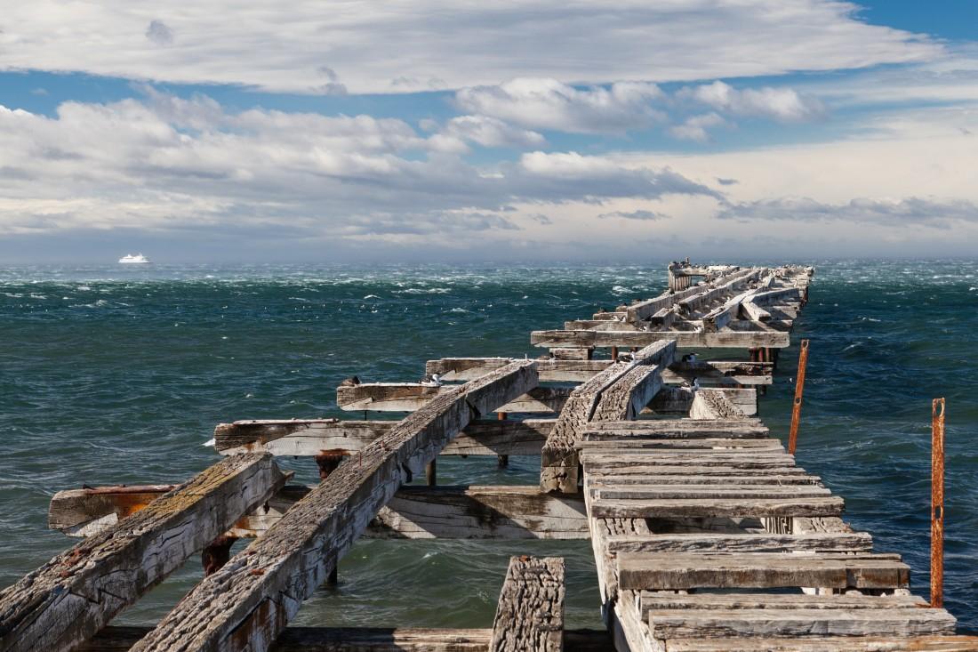 Verfallener Steg in Punta Arenas