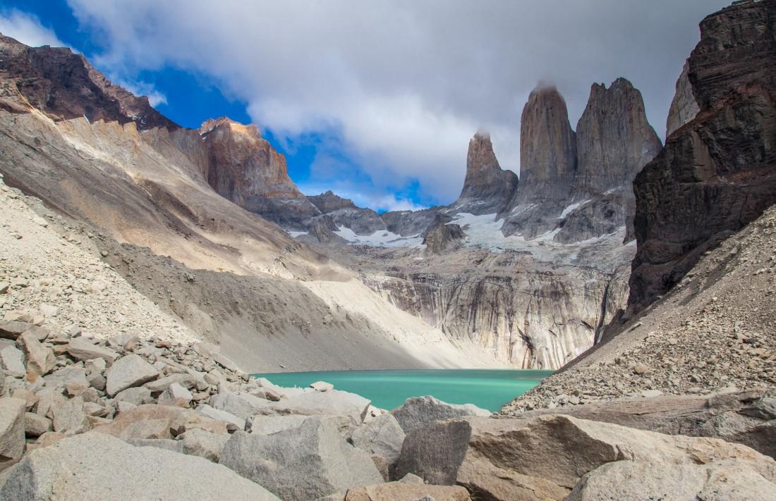 Die Granitfelsen des Torres del Paine