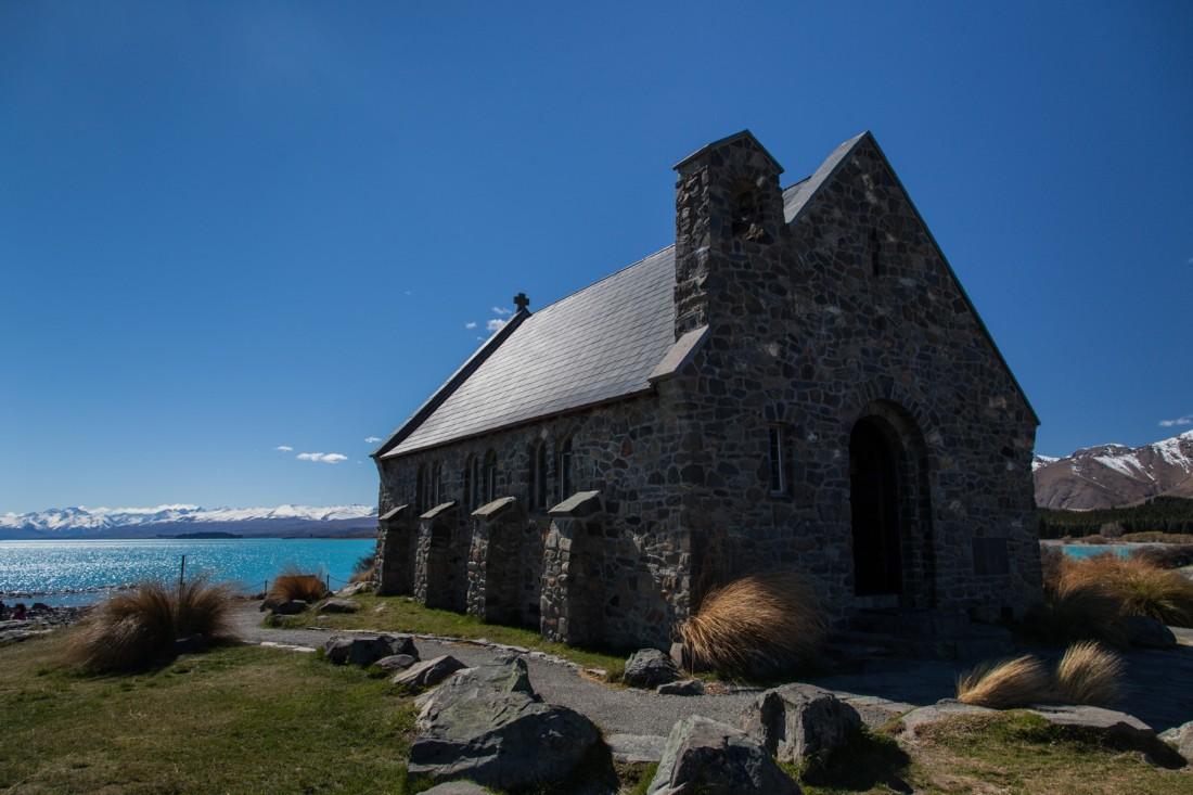 Chapel of the good Cheperd direkt am Lake Tekapo