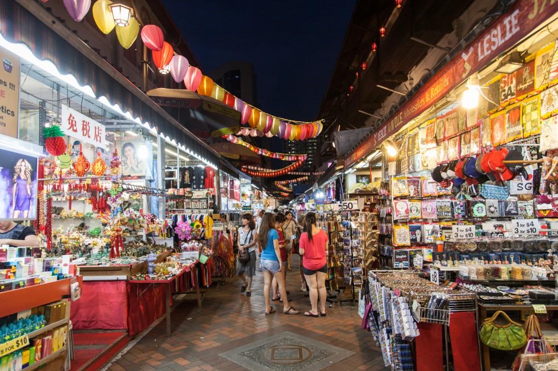 Nachtmarkt in Chinatown