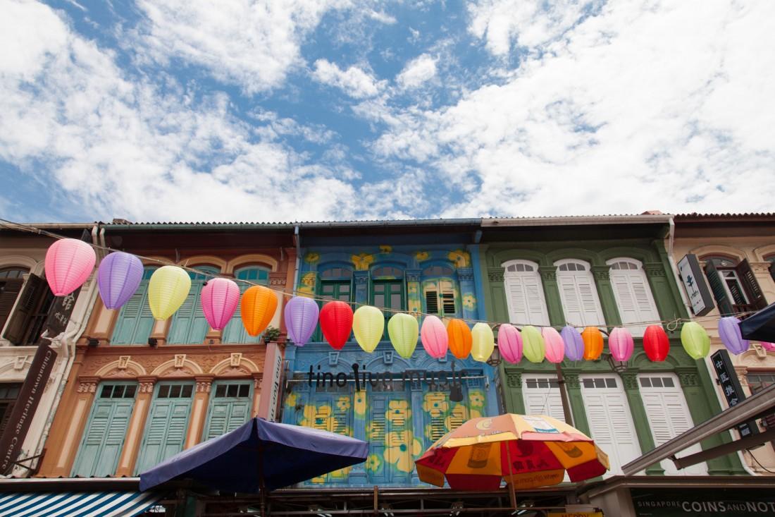 Bunte Häuser in Chinatown