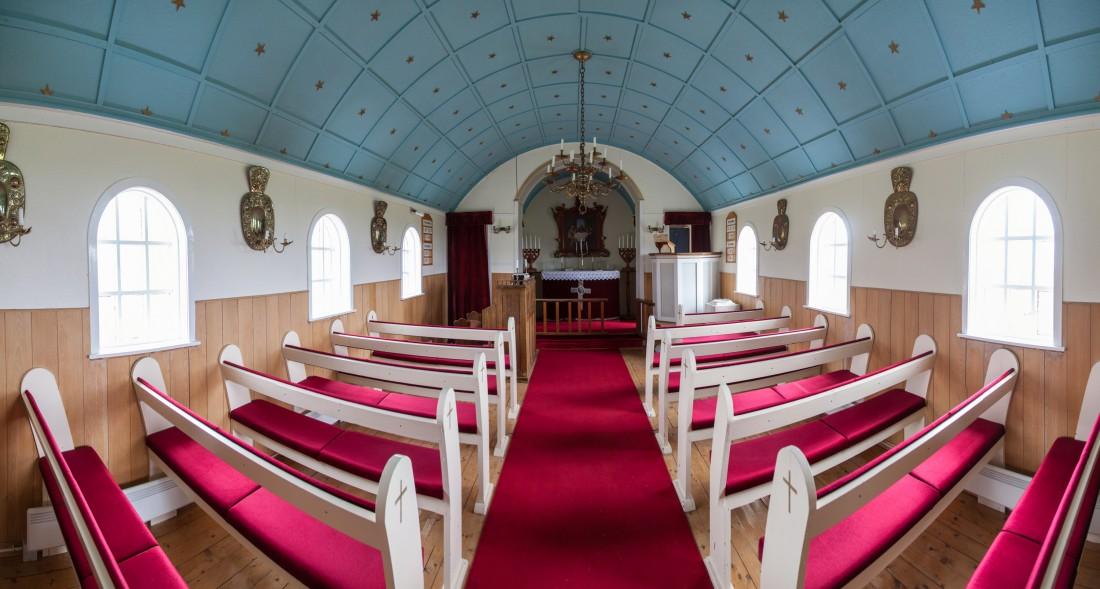 Hellnar Church auf der Snæfellsnes-Halbinsel