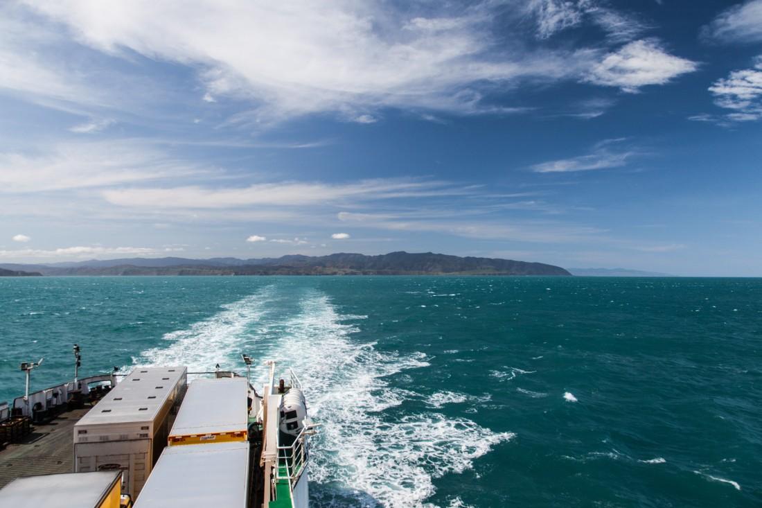 Türkises Meer auf der Cook Strait