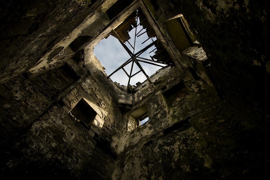 Verfallener Turm bei den Clifs of Moher