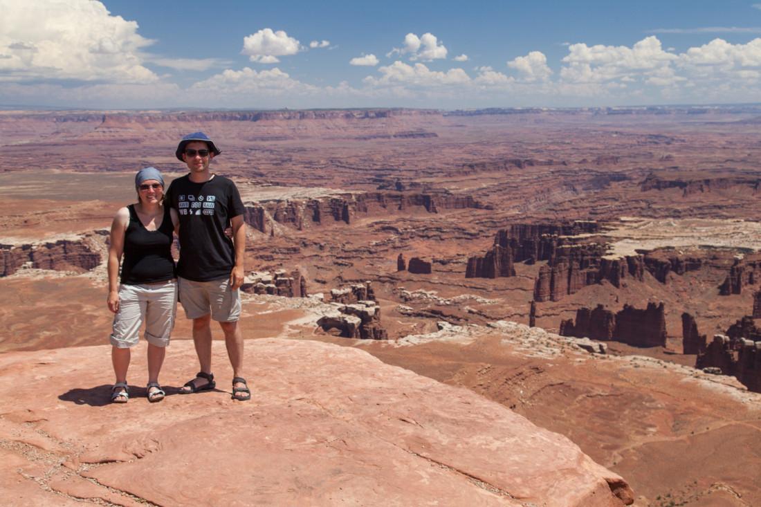 Der nächste Tag brachte wunderschöne Ausblicke von den Klippen des Canyonlands National Parks.