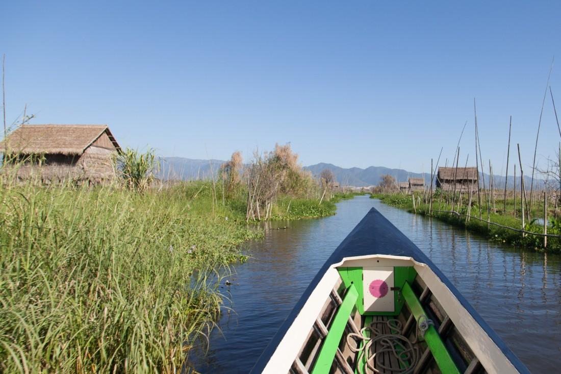 Den letzten Abschnitt nach Nyaung Shwe legen wir per Boot über
