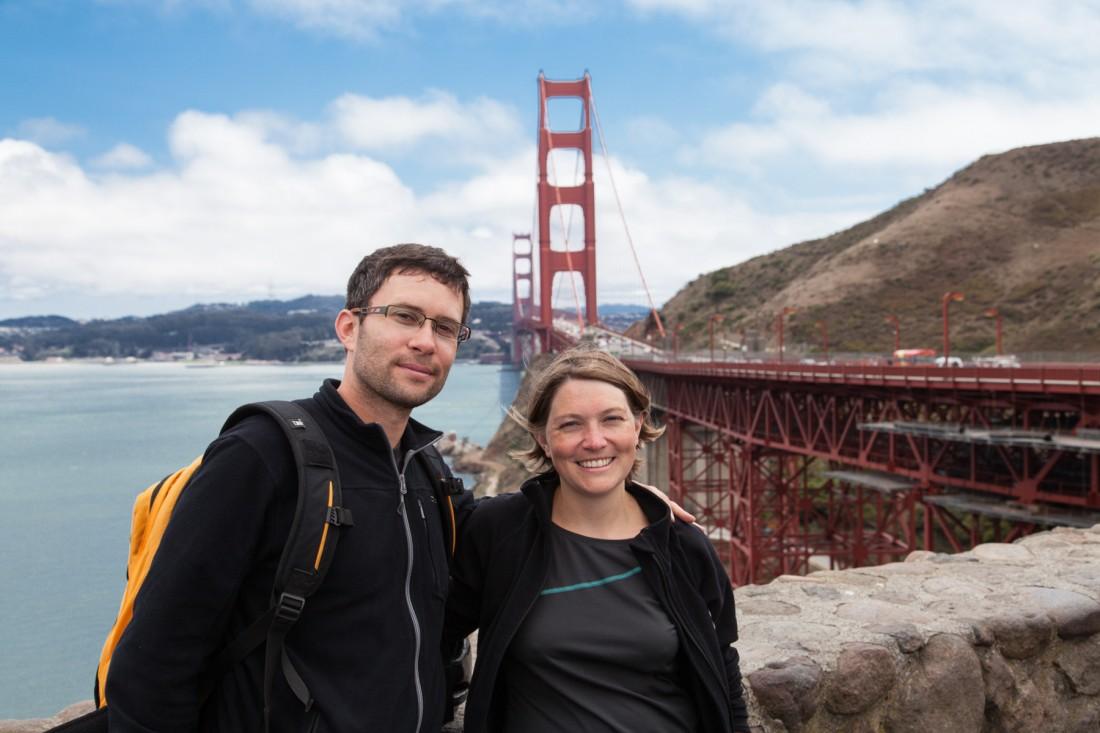 Julia und Daniel vor dem Wahrzeichen San Franciscos, der Golden