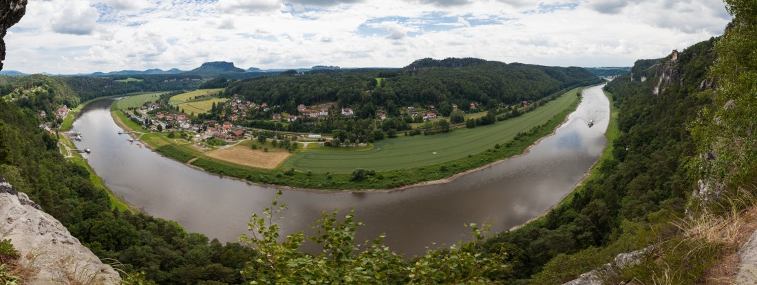 Aussicht von der Felsenburg Neurathen