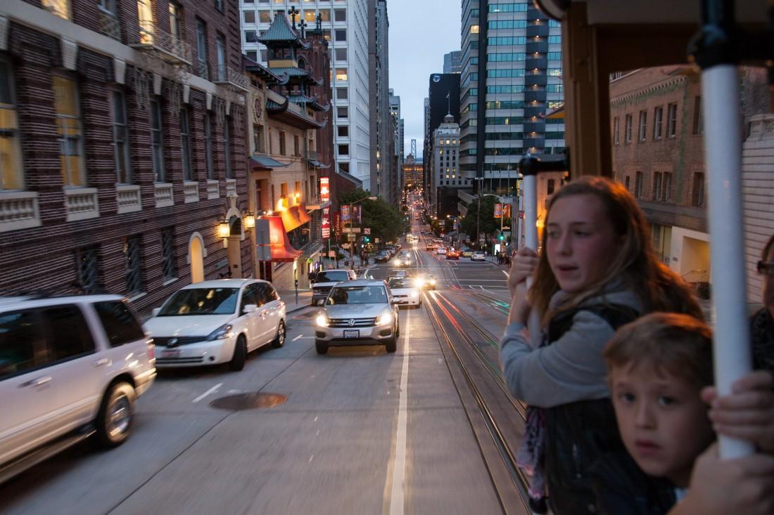 Cable Car fahren ist ein Spass für Jung und alt. Natürlich auc