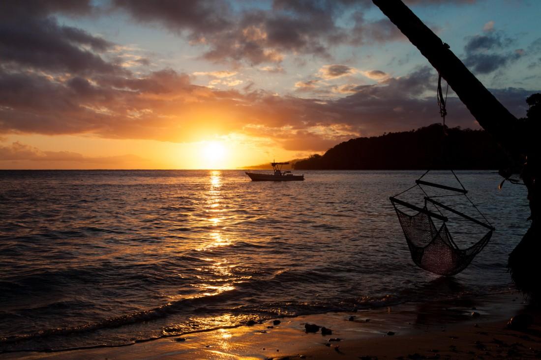 Sonnenuntergang in der Mango Bay