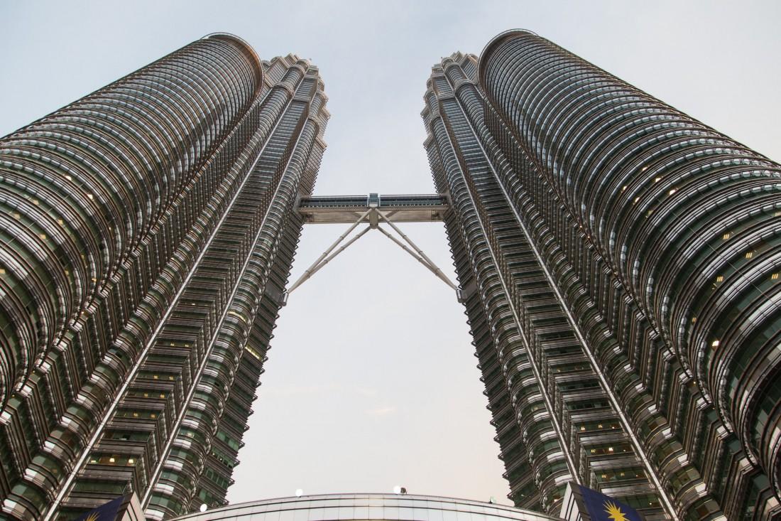 Ganz nah an den Petronas Twin Towers