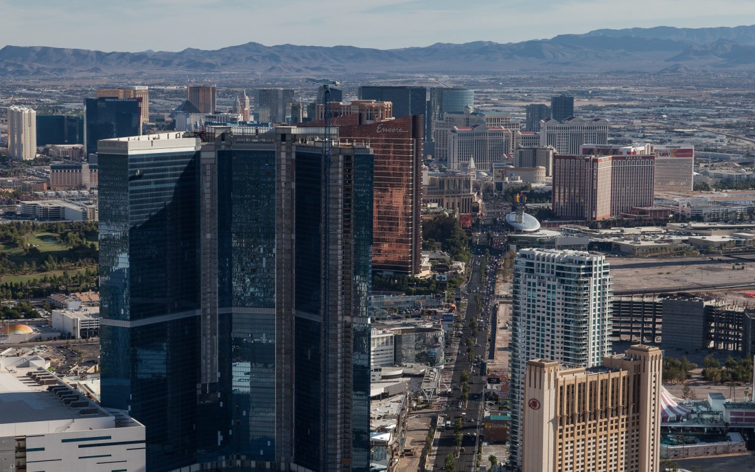 "Las Vegas Boulevard alias ""The Las Vegas Strip"" von der Plattfor"