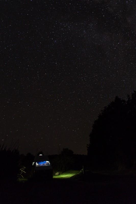 Unser Camper unterm Sternendach