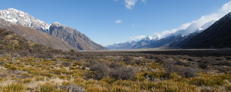 Umleitung zum Mount Cook