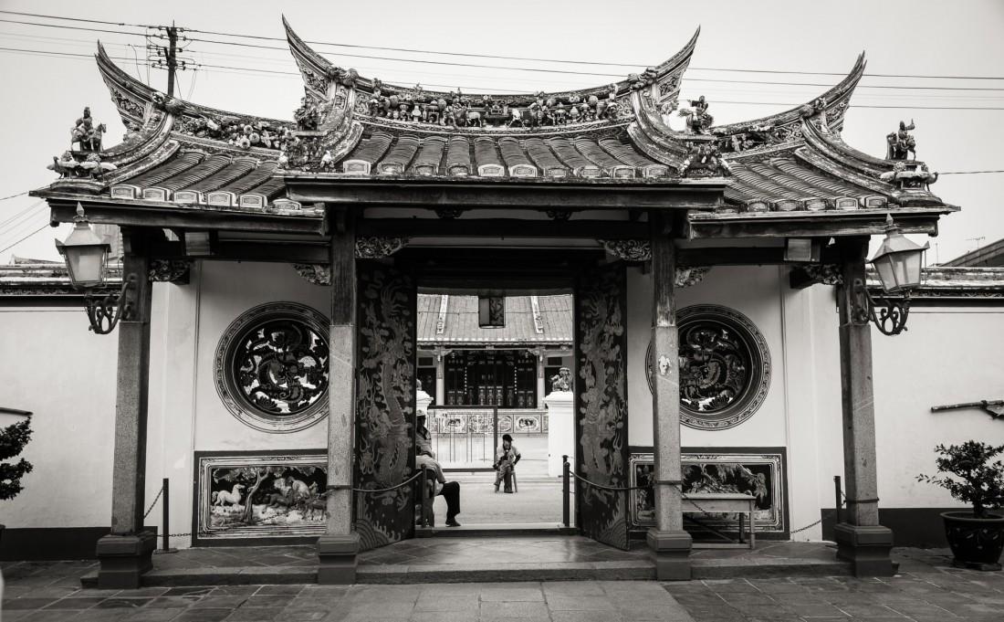 Eingang des Cheng Hoon Teng Tempels