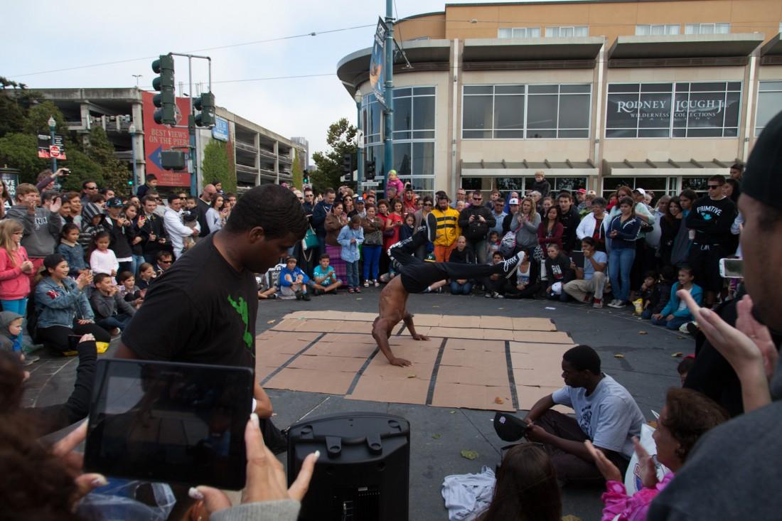 Breakdance Performance am Fischermens Wharf