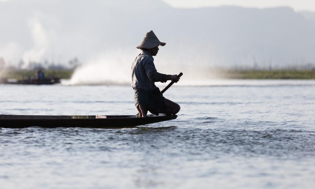 Fischer in der Abendsonne