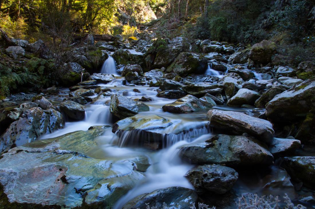 Wasserfälle am Routeburn Track