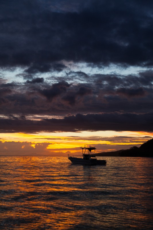 Sonnenzntergang in der Mangobay