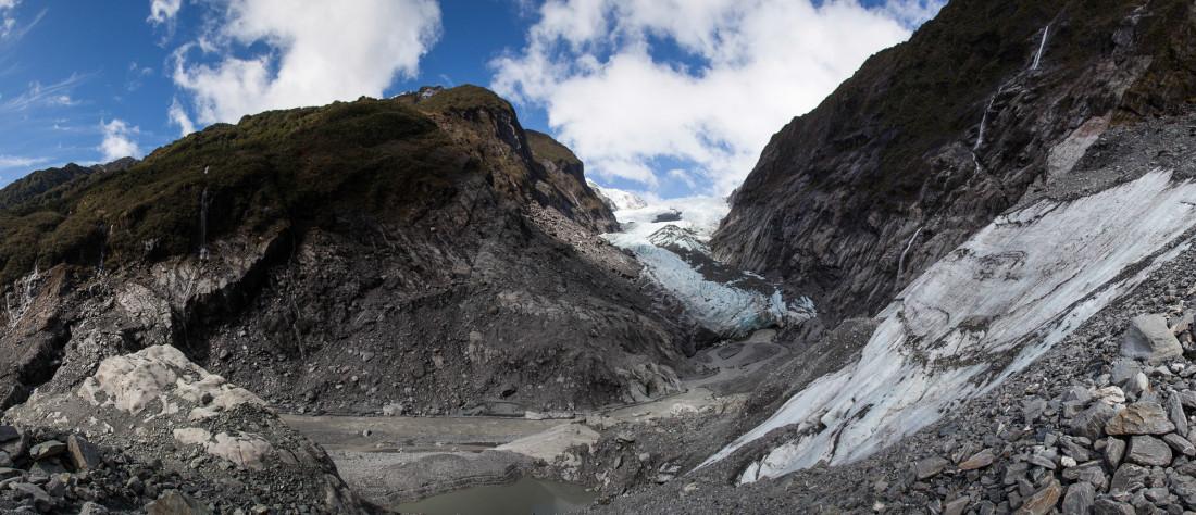 Blick auf den Franz Josef Glacier