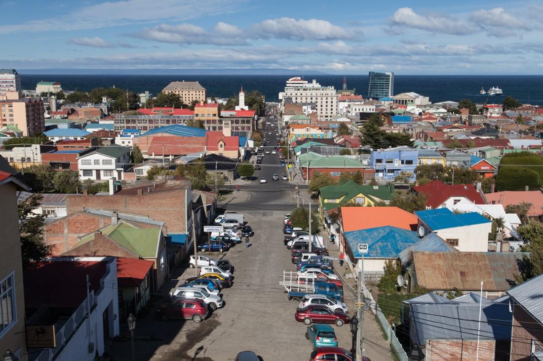 Blick vom Hügel über Punta Arenas