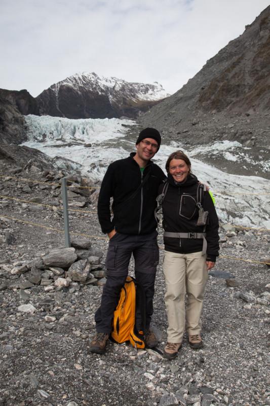 Einmal posen vor dem Fox Gletscher