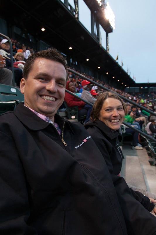 Ingo und Julia beim Baseballspiel