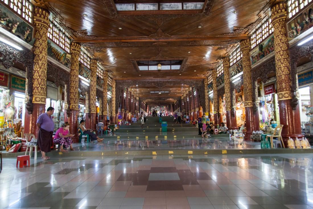 Aufgang Zur Shwedagon Pagode