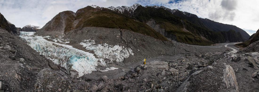 Moränenlandschaft des Fox Glaciers