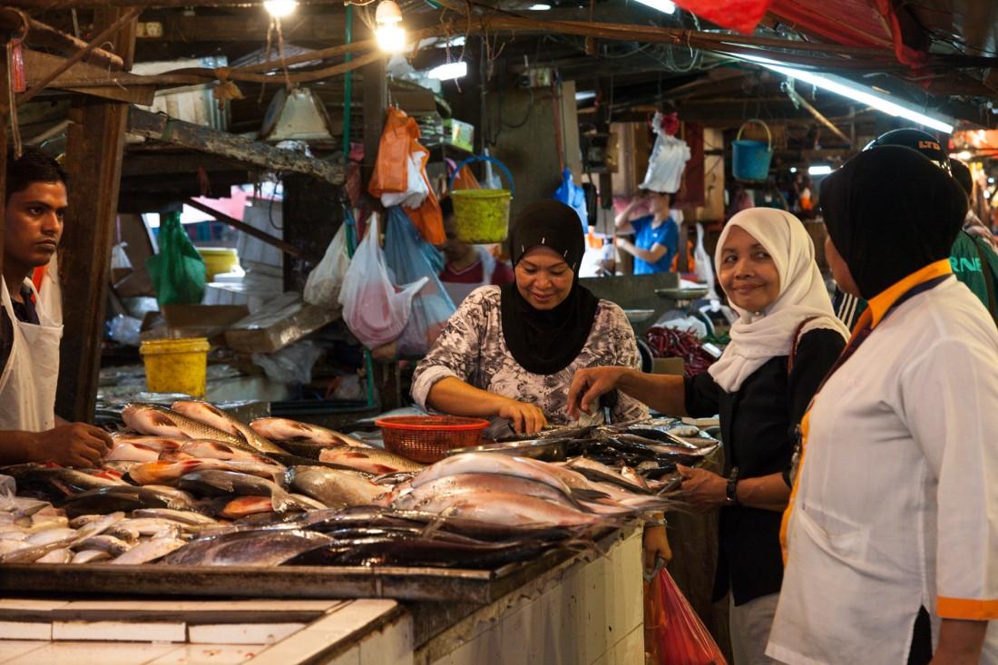 Frische Fische auf dem Markt