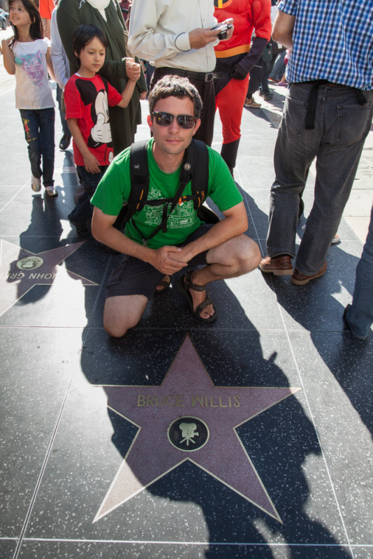 Über den Sunset Boulevard, vorbei an den luxeriösen Villen der Promis von Beverly Hills erreichten wir Hollywood und besuchten unsere Stars auf dem Walk of Fame.