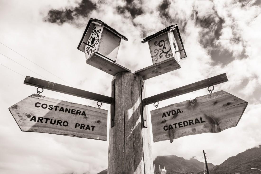 Wegweiser in Cochamo